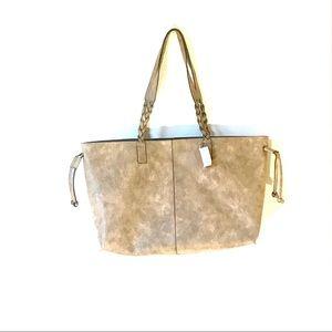 Handbags - Boho Brown Faux Leather Tote Bag.  NWT